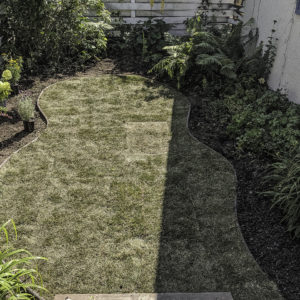 After garden area with sod and replanting