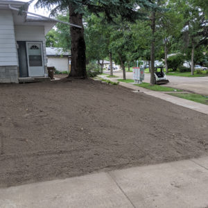 After front and side yard